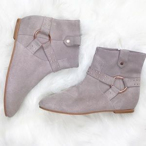 Ted Baker Suede Ankle Boots Booties Gold 6